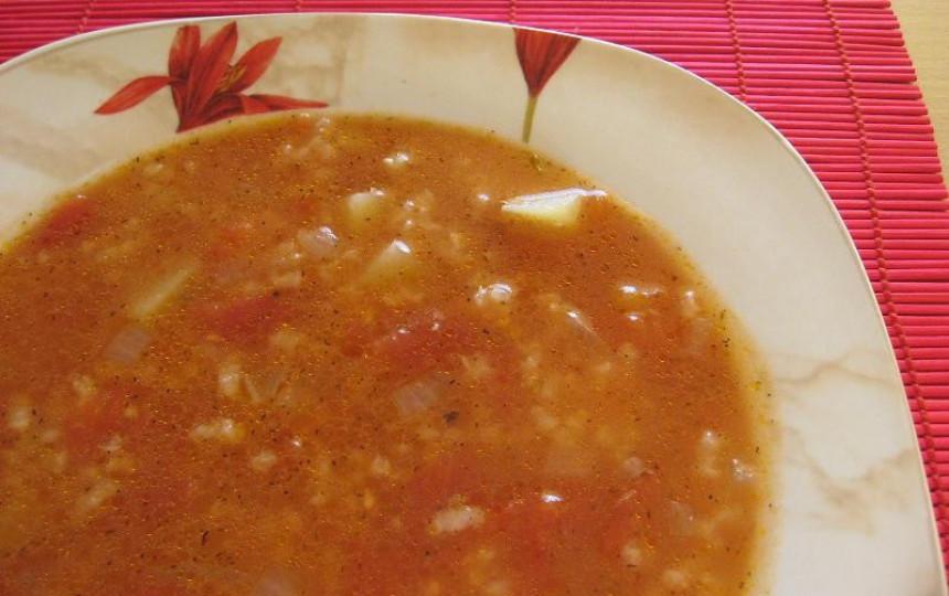Ryžių Pomidorinė Sriuba Manonamailt